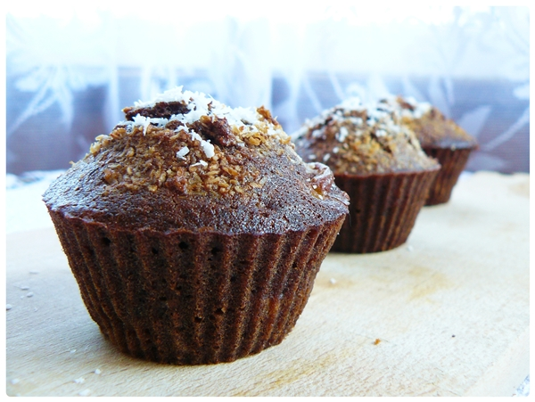 muffinki czekoladowe z bananami