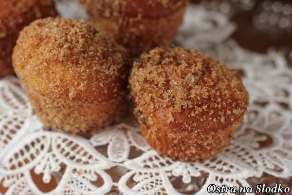 paczki , muffinki paczkowe ,  tlusty czwartek , muffinki z marmolada , ostra na slodko xxx