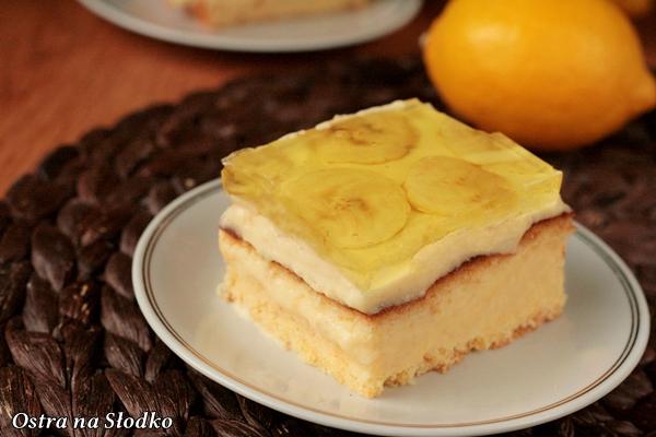 ciasto bananowe , ciasto budyniowe , z galaretka , bananowiec , banany , budyniowiec , ostra na slodko 5