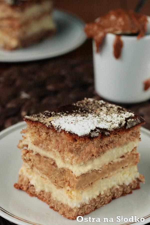 krowka , ciasto karmelowe , ciasto z toffi , z karmelem , ciasto zbudyniowe , krem budyniowy , ostra na slodko xxxxxxxxxxxxxx