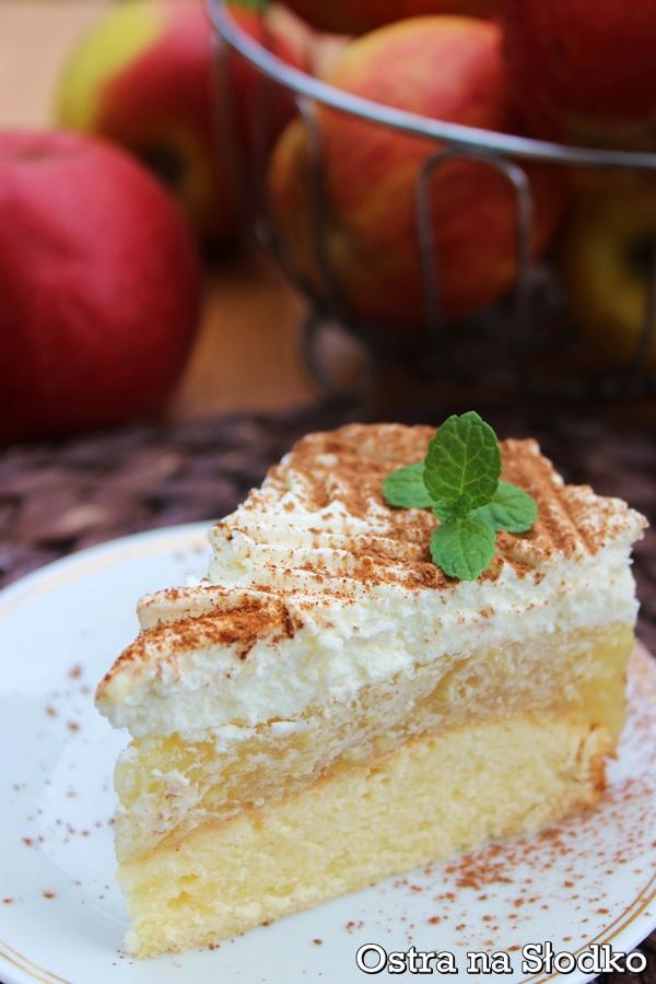 szarlotka ze smietana , szarlotka krolewska , szarlotka na biszkopcie , jablecznik , pyszne ciasto jablkowe , tanie ciasta , ostra na slodko 2xxx