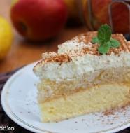szarlotka ze smietana , szarlotka krolewska , szarlotka na biszkopcie , jablecznik , pyszne ciasto jablkowe , tanie ciasta , ostra na slodko 3xxx