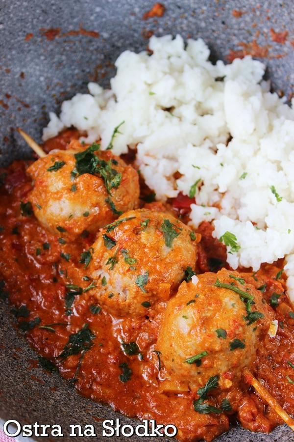 pulpeciki w sosie , tikka masala , kuchnia indyjska , indie . butter , ryz basmati , hinduska , bez laktozy , pyszne klopsiki , ostra na slodko (7)xxx