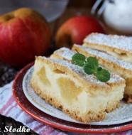 budyniowe z jablkami , szarlotka z budyniem , szarlotka kruchym ciescie , ciasto budyniowe , budyniowe  z owocami , tanie ciasta , latwe ciasta , szybkie ciasto , ostra na slodko (2)xxx