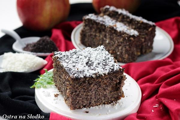 makowiec , makowiec z jablkami , ciasto makowe , z makiem , najlepsze makowce , ostra na slodko , latwe ciasta , szybkie ciasta , blog kulinarny xxx