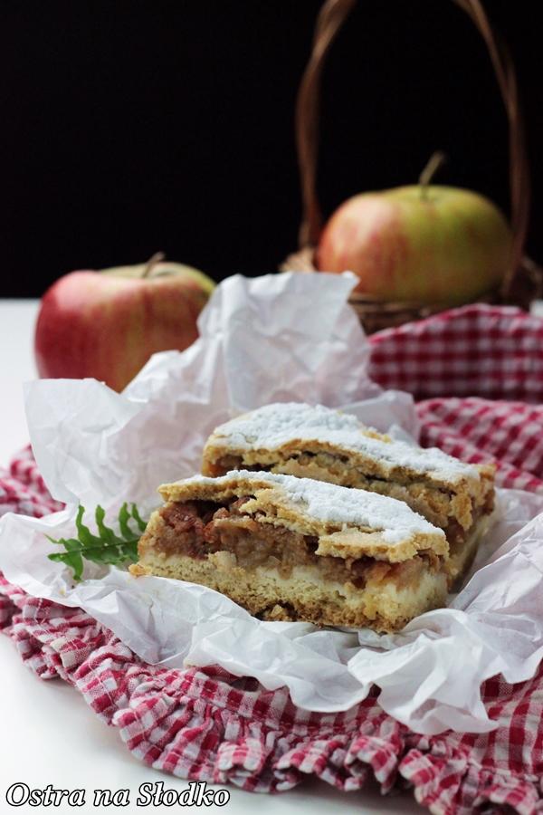 szarlotka , jablecznik , ciasto z jablkami , szarlotka na kruchym polkruchym ciescie , babcina , ostra na slodko , najlepsze przepisy , blog kulinarny , prazone jablka xx