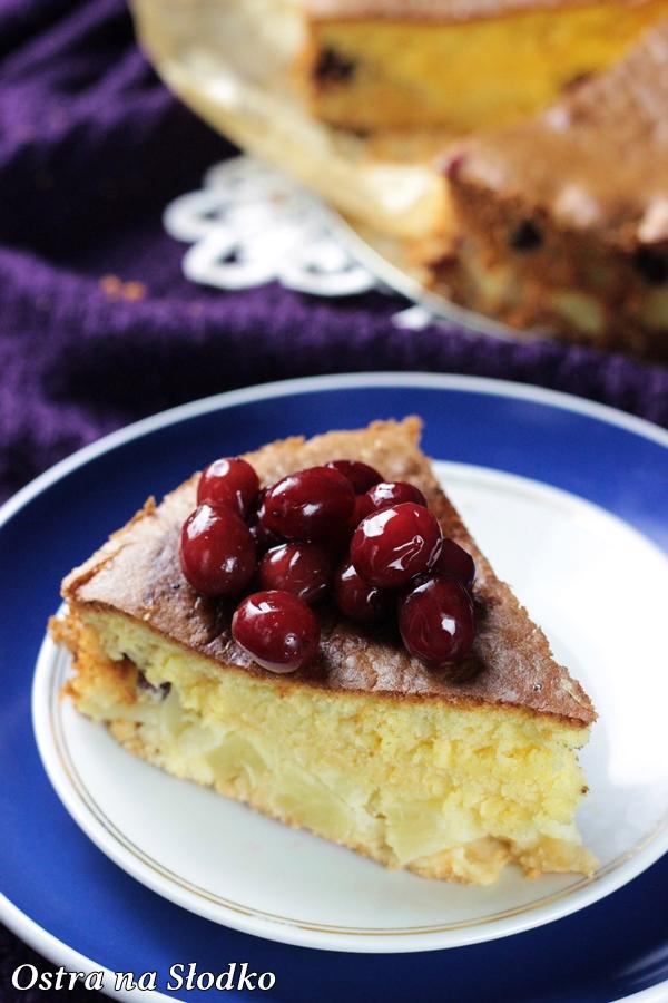 biszkopt z owocami , ciasto z owocami , ciasto ananasowe , ciasto z wisniami , biszkopt z ananasem , biszkopt z wisniami , latwe ciasto , tanie ciasto , ostra na slodko (2)xxxx