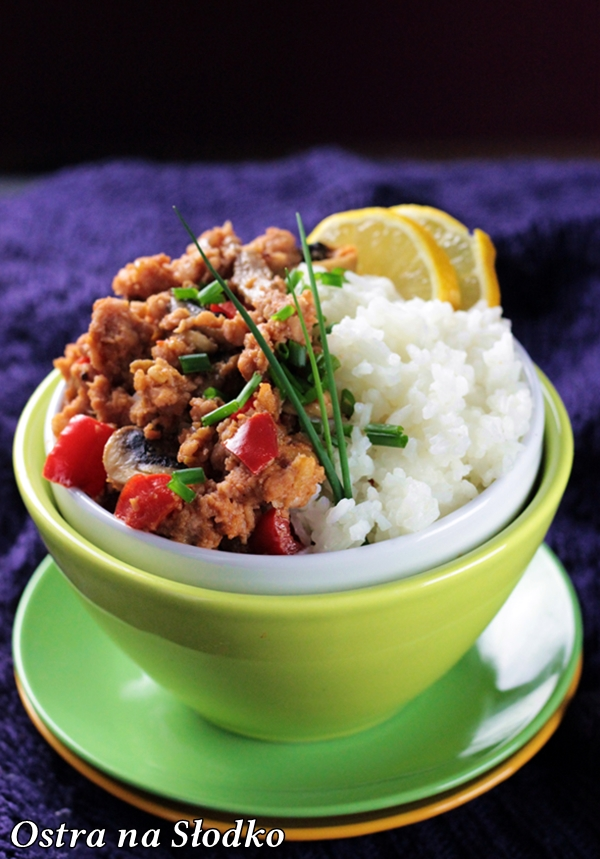 wieprzowina w 5 smakach , wieprzowina po tajsku , kuchnia chinska , tajska , wieprzowina na ostro , mieso  z ryzem , ostra na slodko , blog kulinarny  (2)xx