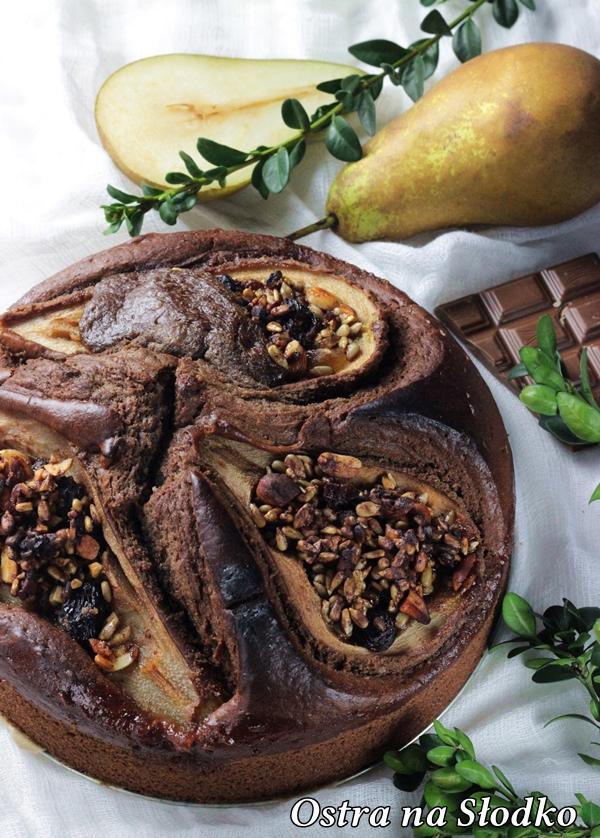 ciasto czekoladowe , ciasto z gruszkami , ciasto czekoladowe z bakaliami , murzynek najlepszy , ciasto z orzechami , najlepsze ciasto czekoladowe  (1)xx