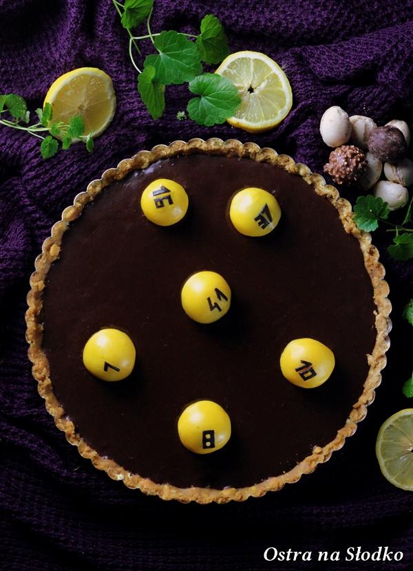 tarta czekoladowa , tarta ferrero rocher , tarta bez pieczenia , krem czekoladowy , lukier plastyczny , sylwia ladyga , losowanie lotto (2)xx