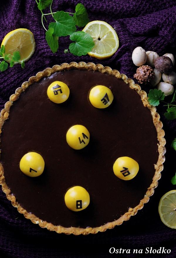 tarta czekoladowa , tarta ferrero rocher , tarta bez pieczenia , krem czekoladowy , lukier plastyczny , sylwia ladyga , losowanie lotto (4)-001xxx