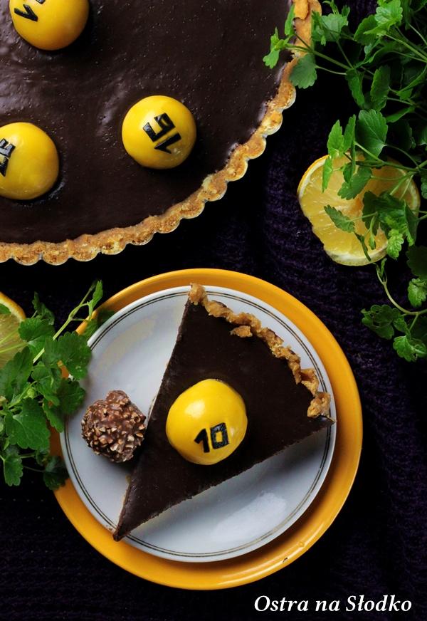 tarta czekoladowa , tarta ferrero rocher , tarta bez pieczenia , krem czekoladowy , lukier plastyczny , sylwia ladyga , losowanie lotto 7xx