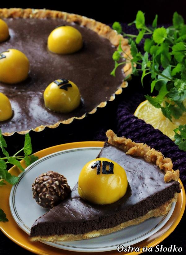 tarta czekoladowa , tarta ferrero rocher , tarta bez pieczenia , krem czekoladowy , lukier plastyczny , sylwia ladyga , losowanie lotto 8x