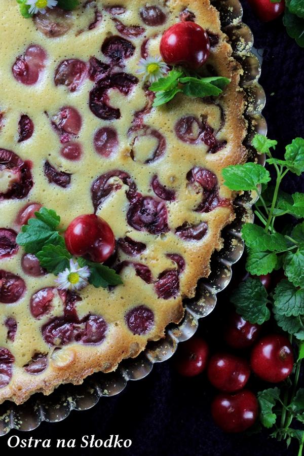 clafoutis z czeresniami , klafutis , clafouti , zapiekanka z owocami , omlet z owocami , ostra na slodko , sylwia ladyga (2)x
