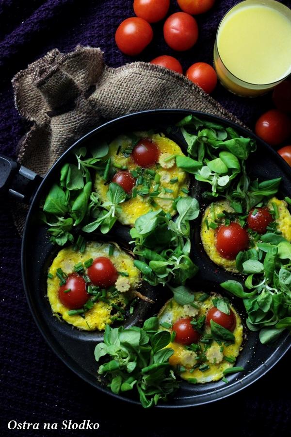 jajka zapiekane , omlet z pomidorami , mini omlety , jajecznica inaczej , ostra na slodko , sylwia ladyga (3)x