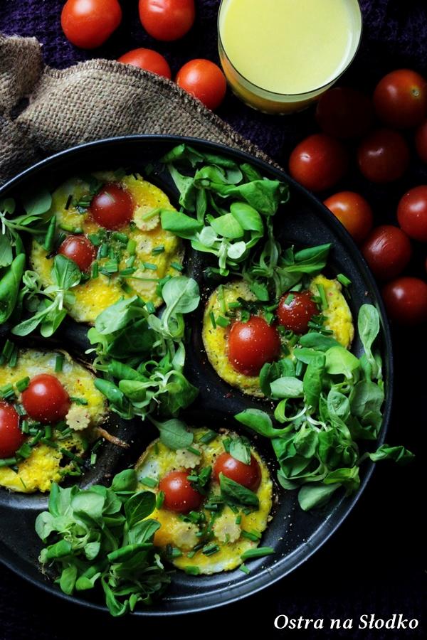 jajka zapiekane , omlet z pomidorami , mini omlety , jajecznica inaczej , ostra na slodko , sylwia ladyga (5)x