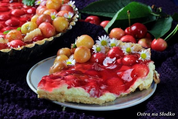 tarta z mascarpone , tarta z owocami , tarta lato , tarta z czeresniami , tarta z galaretka , ostra na slodko , sylwia ladyga (1)x