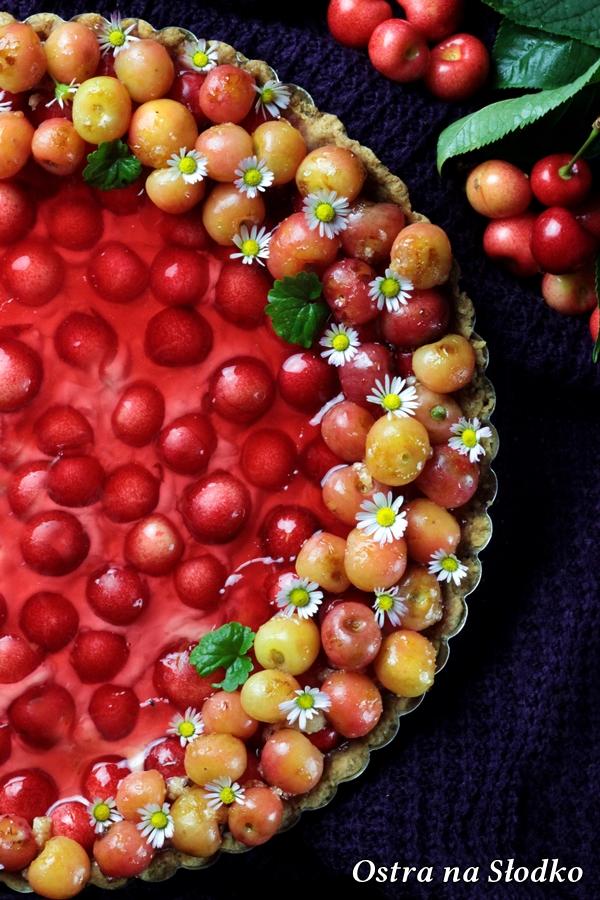 tarta z mascarpone , tarta z owocami , tarta lato , tarta z czeresniami , tarta z galaretka , ostra na slodko , sylwia ladyga (4)x