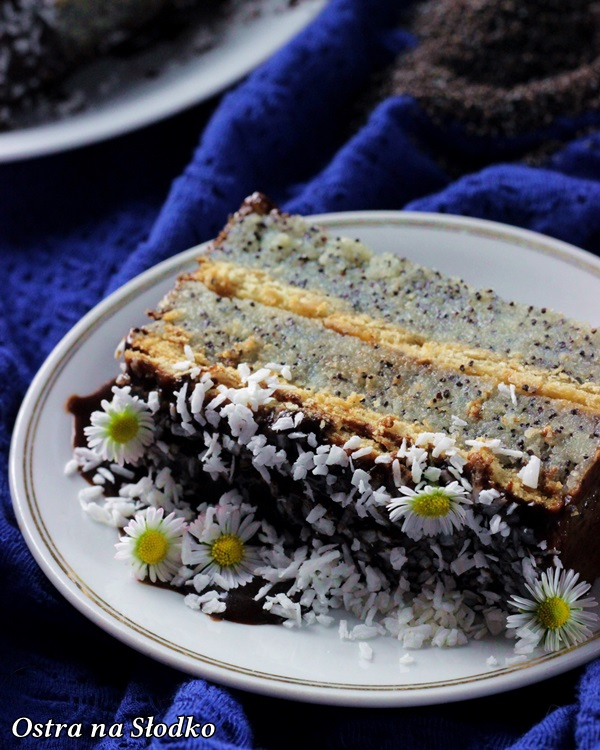 ciasto grysikowe , ciasto bez pieczenia , ciasto makowe , makowiec , ciasto na herbatnikach , ostra na slodko (6)x