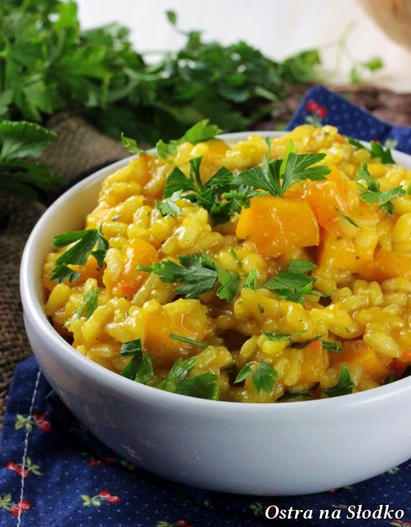 risotto z dynia , przepisy dynia , risotto najlepsze , jak zrobic risottoi , co z dyni na obiad , ostra na slodko , sylwia ladyga (4)x