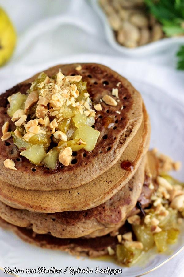 piernikowe pancakes , piernikowe pankejki, karmelizowane gruszki , piernikowe nalesniki, ostra na slodko (1)xx
