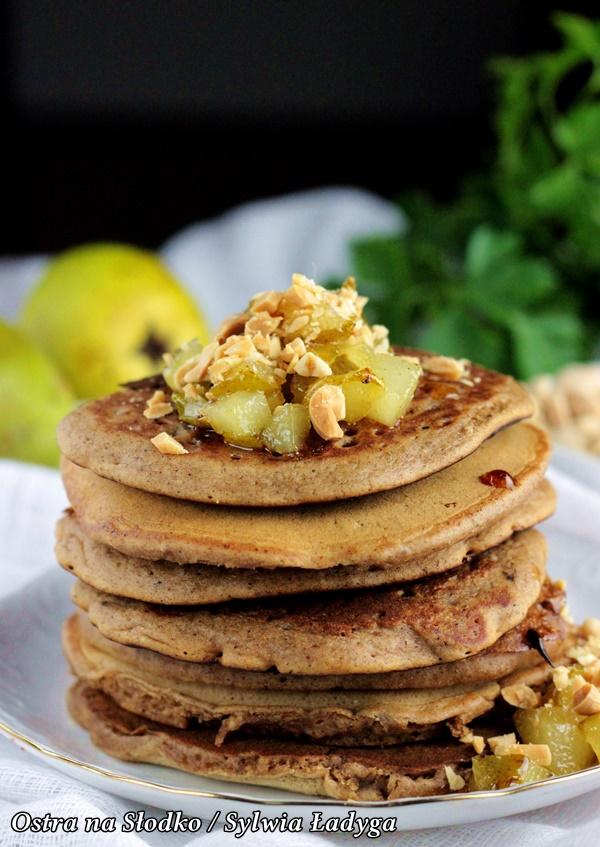 piernikowe pancakes , piernikowe pankejki, karmelizowane gruszki , piernikowe nalesniki, ostra na slodko (2)xx