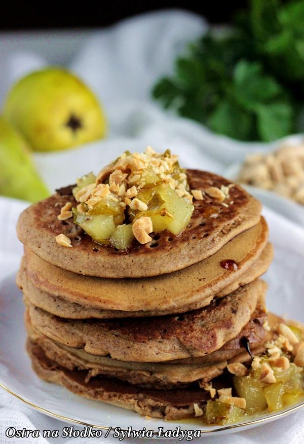 piernikowe pancakes , karmelizowane gruszki , piernikowe placuszki , piernik , pierniki , pyszne placuszki , pancakes najlepsze , ostra na slodko , sylwia ladyga , blog kulinarny , latwe przepisy , co na obiad , pomysly na slodkie sniadanie
