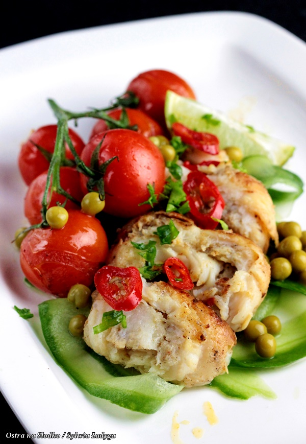 dorsz po tajsku , dorsz na ostro , ryba z warzywami , dietetyczne przepisy , ostra na slodko (3)x