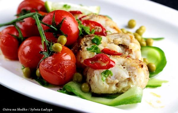 dorsz po tajsku , dorsz na ostro , ryba z warzywami , dietetyczne przepisy , ostra na slodko (4)x