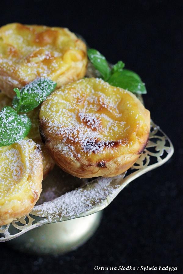 pasteis de nata , pasteis de belem , portugalskie ciasteczka, ciasteczka z lizbony , ostra na slodko , ciasto francuskie (1)x