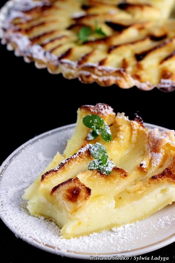 tarta serowa , tarta z jablkami , tarta na ciescie francuskim , sernik z jablkami , ostra na slodko , sylwia ladyga (5)x