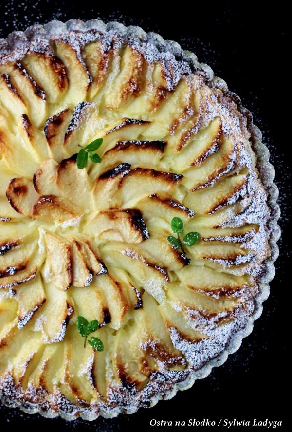 tarta serowa , tarta z jablkami , tarta na ciescie francuskim , sernik z jablkami , ostra na slodko , sylwia ladyga (8)xx