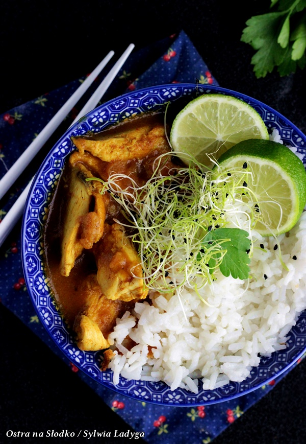 czerwone curry , curry chicken , curry z kurczakiem czerwone curry tajskie , ostra na slodko (4)xx