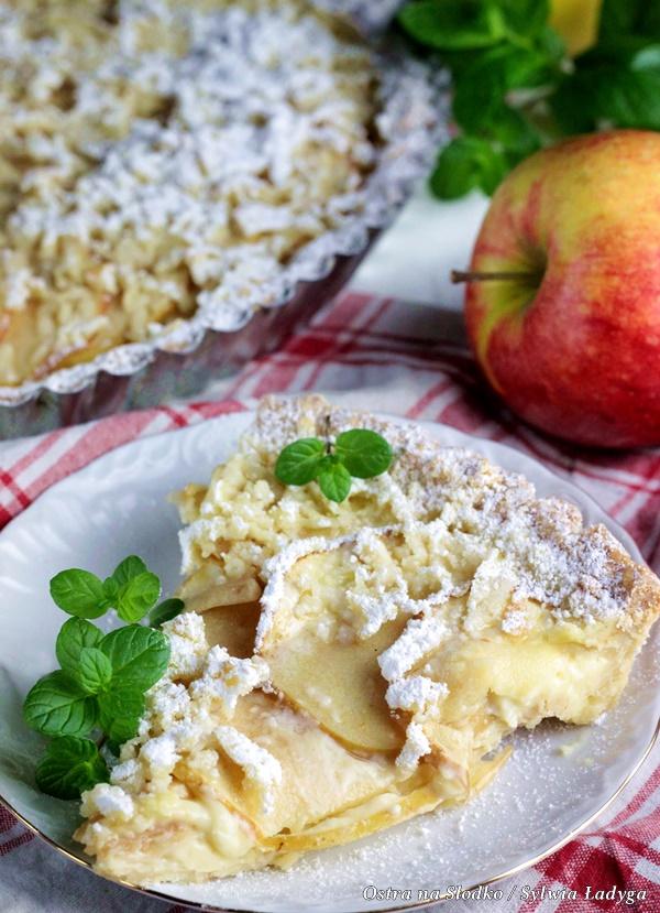 tarta jablkowa , tarta budyniowa , tarta z jablkami , krucha tarta , kruche ciasto , jak zrobic kruche ciasto , ostra na slodko 2xx
