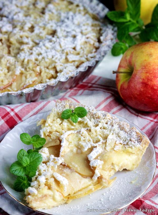 tarta jablkowa , tarta z jablkami , kruche ciasto , jak zrobic kruche ciasto , kruche ciasto do tarty , krem budyniowy , ostra na slodko , sylwia ladyga , blog kulinarny , blog ciasta , blog slodkosci , co na obiad