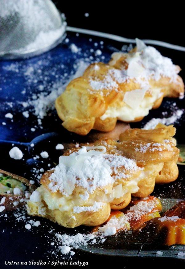 eklerki , krem kokosowy , krem rafaello , ciasto ptysiowe , eklerki z kremem , ostra na slodko , sylwia ladyga , blog (3)x
